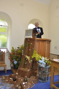 The Moderator in the pulpit