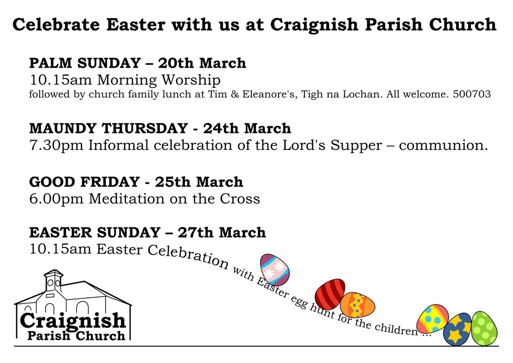 Easter Services Craignish