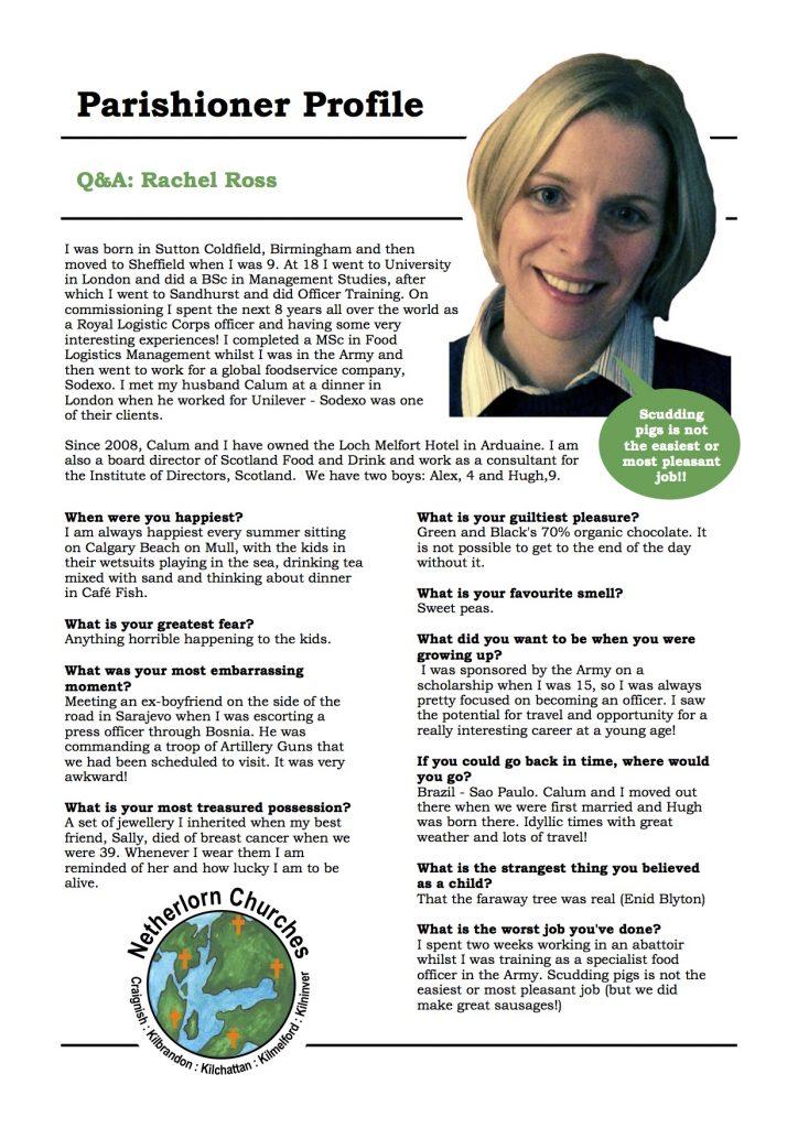 Parishioner Profile Rachel Ross