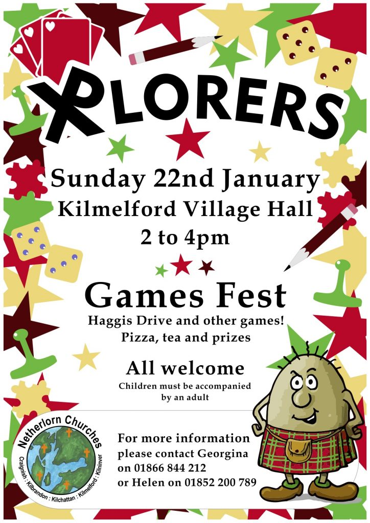 XPlorers Games Fest Haggis 22nd January