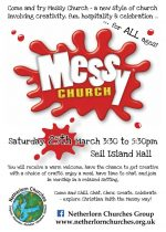 Messy Church for children and adults! 25th March