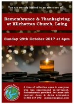 Remembrance & Thanksgiving, 29th October