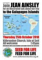 An illustrated talk about Jean Ainsley's trip to the Galapagos