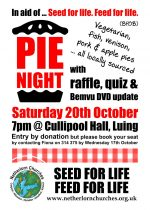 Pie Night, Saturday 20th October