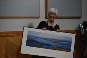 Mary Sandilands presented Hester and Ken with the photo