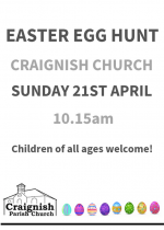 Easter Egg Hunt in Craignish Parish Church
