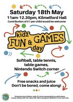 Kidz Fun & Games Day, 18th May