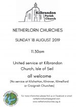 United Netherlorn Service in Kilbrandon, 18th August