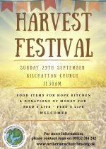 Harvest Festival, 29th September