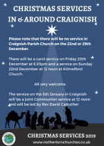 Christmas Services in and around Craignish Parish Church