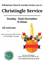Christingle Service, Kilchattan Church, 22nd December