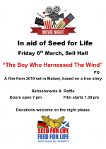Movie Night in aid of Seed for Life, 6th March