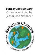 Sunday 31st January: Online worship led by Jean & John Alexander