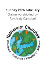 Sunday 28th February: Online worship led by Rev Andy Campbell