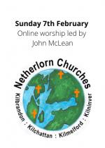 Sunday 7th February: Sunday worship led by John McLean