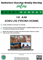Netherlorn Churches Weekly Worship, join us online from home