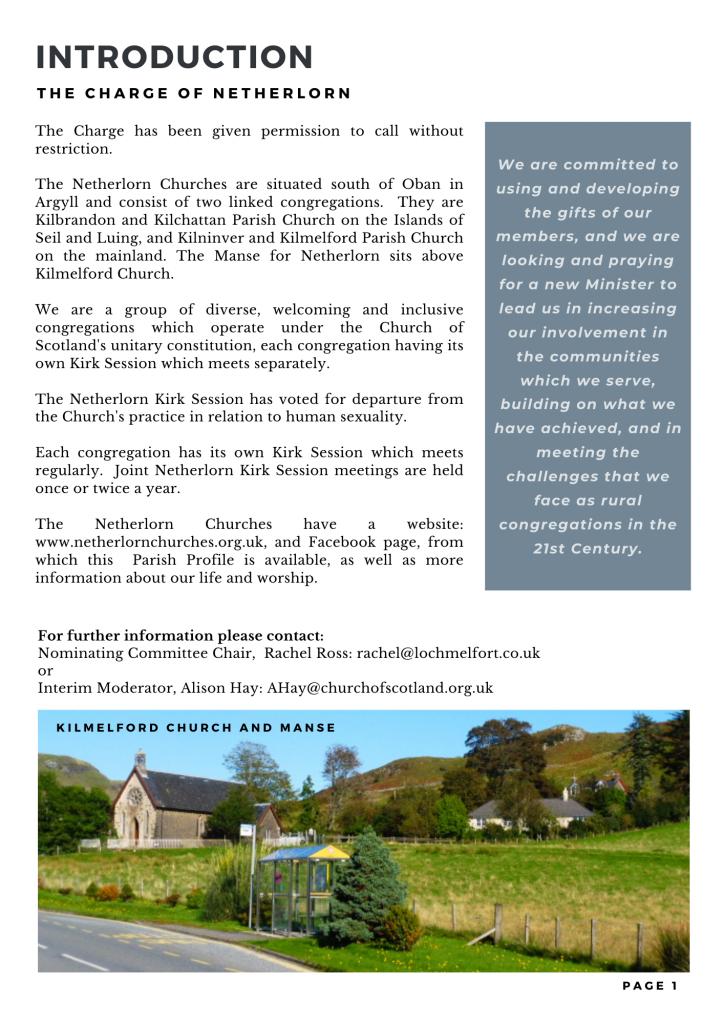 FINAL - The Netherlorn Churches Parish Profile-2