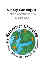 Sunday 15th August: Online worship led by Maura Rae
